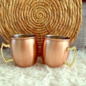 Old Dutch International Kitchen - Copper/Stainless Steel Moscow Mule Mugs-2